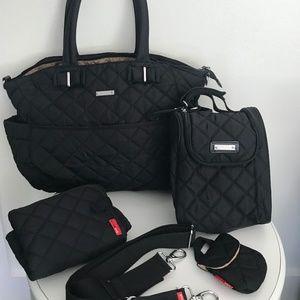 Storksak Bobby Diaper Bag & Fab Bag - Black